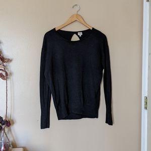 Wilfred Black Silk Cashmere Open Back Sweater